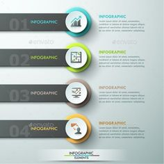 Modern Infographic Paper Template by Andrew_Kras Modern infographics process template with paper circles,ribbons and icons for 4 options. Can be used for web design andwor Simple Web Design, Web Design Tutorials, Design Templates, Affinity Designer, Instructional Design, Infographic Templates, Infographics Design, Presentation Design, Paper Presentation