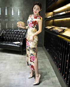 Dresses Brave 2018 Spring Long Cheongsam Purple Fashion Chinese Style Dress Womens Velour Qipao Slim Party Dresses Lady Button Vestido S-3xl