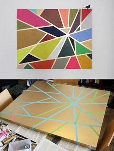 DIY: tape painting