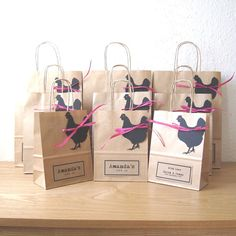 Hen party bag in Large x x (on the photo, it is the big one). This bag includes the black (Colour option) hen tag and fine Fuchsia paper ribbon. This bag is each Please select the number of bag you need from the Quantity drop down menu and add them into Hen Do Party Bags, Hen Party Gifts, Party Gift Bags, Hen Party Favours, Shower Favors, Shower Gifts, Shower Invitations, Hen Night Ideas, Hens Night