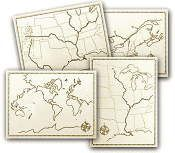 Maps that go w/ the Holling C Holling titles