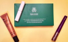 Review, B/A Comparison Photos: Arbonne Holiday 2014 Makeup Kit - Victoria Lake Palette, It's A Long Story Royal Purple Mascara, Sheer Glow Highlighter Bronze #BStat