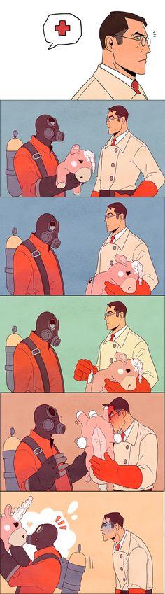 Unicorn #TF2 #Pyro #Medic
