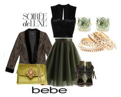 """""""Bebe Holiday"""" by dawndyb ❤ liked on Polyvore featuring Bebe, Chicwish, Isabel Marant, Ivy Kirzhner and Kevin Jewelers"""