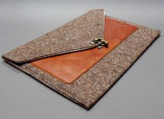 iPad Pro / iPad / iPad Air case with leather pocket - brown tweed by MooseAndPine on Etsy https://www.etsy.com/ie/listing/160588974/ipad-pro-ipad-ipad-air-case-with-leather