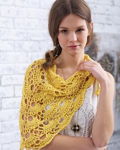Ravelry: Yes Yes Shawl pattern by Bernat Design Studio