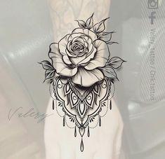 Trendy Ideas for tattoo ideas for women leg art designs - Hair♥ Nails♥ Beauty♥ Tattoos♥ Piercings - Tattoos - Tattoo Designs For Women Best Tattoos For Women, Trendy Tattoos, Cool Tattoos, Animal Tattoos For Women, Mandala Tattoo Design, Tattoo Designs, Art Designs, Mandala Flower Tattoos, Henna Designs