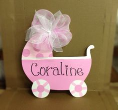 Amy- this is the door hanger I was talking about... It isn't a stork. This one is cuter, actually. Ha! What do you think?