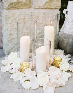 elegant wedding centerpiece idea; photo: The Great Romance