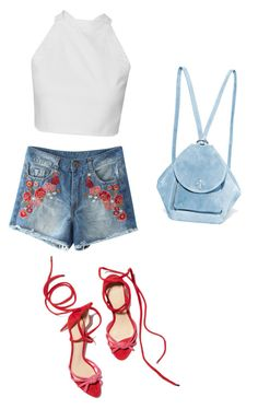 """""""rose cutoff"""" by jennross76 ❤ liked on Polyvore featuring MANU Atelier"""