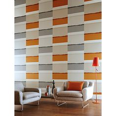 Buy Haze, 110501 Harlequin Tranquil Paste the Wall Wallpaper from our Wallpaper range at John Lewis & Partners. Wallpaper Online, Wall Wallpaper, Blinds, Past, Interior Decorating, Curtains, Abstract, Carousel, Africa