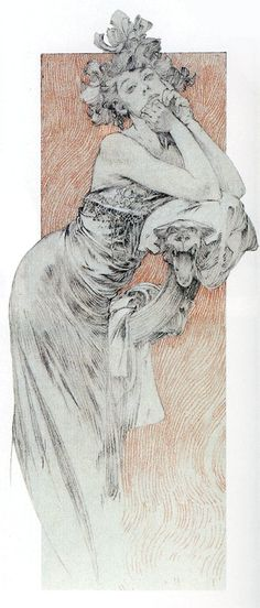 one of my all time favorite drawings, by Mucha✖️Alphonse Mucha (Czech, 1860 - 1939). ✖️FOSTERGINGER AT PINTEREST ✖️