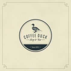 Pretty quirky name for a coffee place: Coffee Duck by Gaslight , via Behance