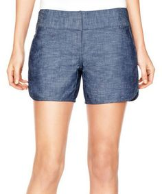 Look what I found on #zulily! Blue Chambray Dolphin Hem Shorts by The Limited #zulilyfinds