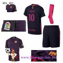la liga: Maillots FC Barcelone Pourpre Enfant Kits (MESSI 10) Exterieur 2016…