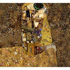 Fotótapéta - Klimt inspiration: Golden Kiss Gustav Klimt, Sexy Women, Kiss, Texture, Wood, Crafts, Painting, Inspiration, Flamingo