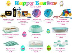 Tupperware sale closes Friday, March 31! Contact me to order today! Available direct from my website also:  http://beckysherbundy.my.tupperware.com