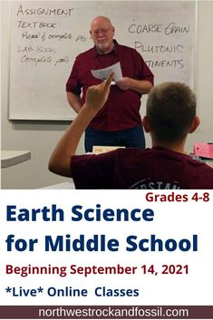 Northwest Treasures is offering a *LIVE* online, interactive Earth Science class designed for your middle school student (4-8 grades). Twelve weeks, beginning September 14, 2021. Please note: enrollment is limited to 20 participants. >>> Learn more and sign up today! #geologyhomeschool #biblicalworldview #homeschoolmiddleschool #earthscience #homeschoolonlineclasses #christianhomeschooling Bible Science, Earth Science, Science And Nature, Homeschool Science Curriculum, Middle School Grades, Class Design, Student Learning, Geology, Textbook