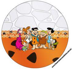 Rótulo Tubetes,Latinhas e Toppers Os Flintstones: