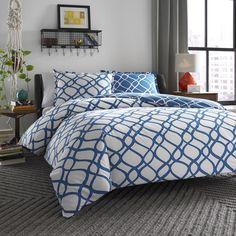 City Scene Arlo Reversible 3-piece Cotton Duvet Cover Set - Overstock™ Shopping - Great Deals on City Scene Duvet Covers