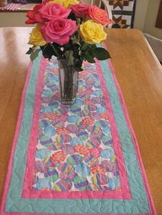Quilted Easter Egg Table Runner by SweetDreamsbyMoosie on Etsy, $30.00