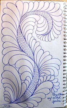 lots of filled spine ideas!  Feathers w/Filled Spines  ~  May Your Bobbin Always Be Full: Sketch Book....