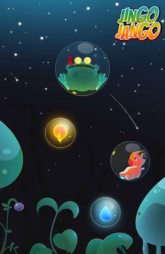 Jingo Jango mobile game artwork - Trouble in the bubble