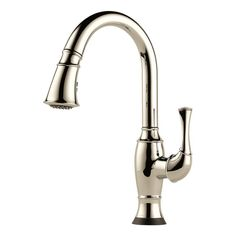 Brizo 64003LF Talo Pull-Down Kitchen Faucet with On/Off Touch Activation and Mag
