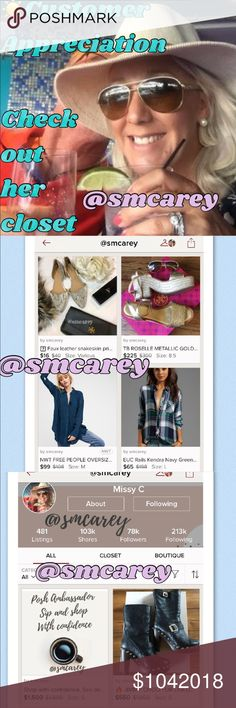 ❤️CustomerAppreciation@smcarey(ty)ChkOutHerCloset ❤️CustomerAppreciation Pff 💕@smcarey  ---I've been meaning to do this for weeks now.                           I truly appreciate ALL of my pffs, customers, followers (giggle) & every single person i communicate with on Posh. Each &every experience contributes to my personal & professional growth.I especially treasure the many Good/Great people that I am meeting along the way.⭐️Missy, @smcarey is my pff (PoshFriendForever)& my customer & a…