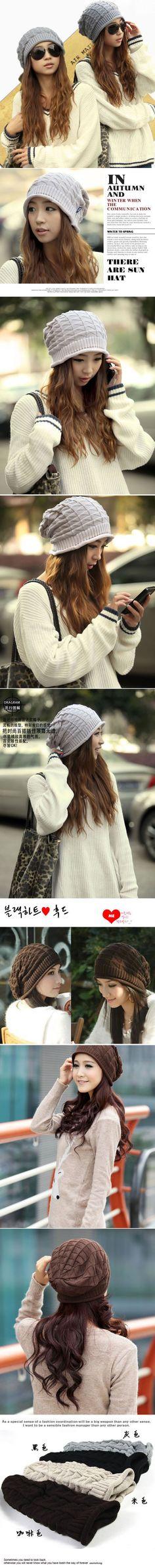Sullen Black Simple Knitting Wool Fashion Hats,Knitting Wool Hats http://earrings.asumall.com/