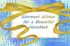 Hanukkah Greeting Card by Regina Geoghan Hanukkah Greeting, Gold Ribbons, Personalized Invitations, Festival Lights, Custom Greeting Cards, Note Cards, Holiday Cards, Joy, Messages