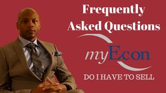 myEcon Frequently Ask Questions - Do I Have to Sell - I'm Not A Good Sal...