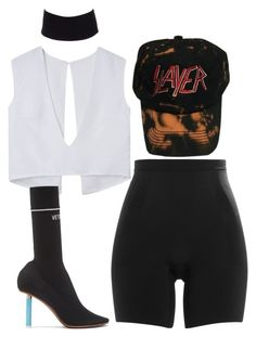 """""""Untitled #4453"""" by stylistbyair ❤ liked on Polyvore featuring Vetements, SPANX and River Island"""