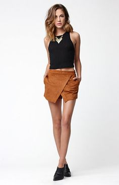 Square Back Cropped Sweater Tank Top