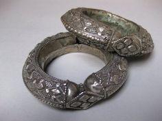 A Pair of Silver Saudi Arabian Bracelets. Khaneikey.com