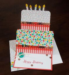 Laura's Works of Heart: REMEMBERING YOUR BIRTHDAY EASEL CARD: