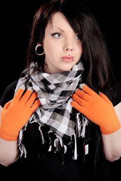 Kosketusnäyttösormikkaat -Oranssi   Cybershop