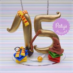 Vela decorada Harry Potter - Festa Geek - Paty's Biscuit