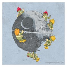 Fraggle Rock/Star Wars mash-up - no matter how many times you destroy their stuph, they'll always keep building!