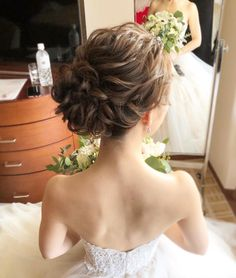 Evening Hairstyles, Wedding Hairstyles, Cool Hairstyles, Hair Arrange, Kimono Fashion, Hair Art, Hair Inspo, Bridal Hair, Hair Makeup