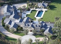❤️All'❤️❤️ kim k west   While the estate may not look exceptionally large from the ground level, this bird's-eye view gives a peek into the true size of this gigantic property.
