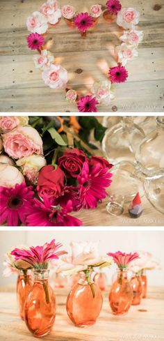 This DIY flower centerpiece would be perfect for your Spring wedding or baby shower! Best of all? It takes only minutes to make!