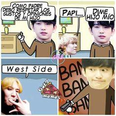 Read 44 from the story Memes de by Yumiko_Kun (Patatas fritas) with reads. Meme Got7, K Meme, Exo Memes, Youngjae, Yugyeom, Bts And Exo, Korean Bands, Kpop, Jaebum