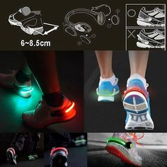 Stay safe during your night run! Make sure that you are seen while running or cycling with this safety light that clips on your shoes.