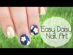 ▶ Super Easy Daisy Nail Art for Spring! - YouTube