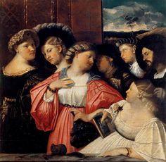Giovanni Cariani, Sette Ritratti della famiglia Albani, 1519, Bergamo, collezione privata, olio su tela, 117 x 117 cm