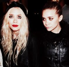 Mary Kate and Ashley Olsen sisters/bffs did not know that wazz possible lol
