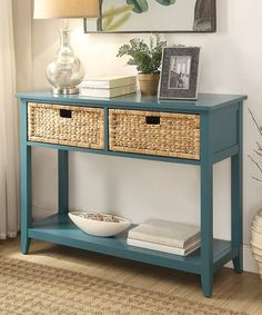 Acme Furniture Inc. Teal Flavius Wood Console Table | zulily