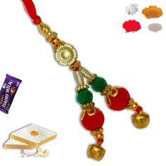 Velvet bead Lumba Rakhi. #lumba #Rakhi #RAkhiGifts#SendRakhi#OnlineRakhi#rakhitoindia Rakhi To India, Rakhi Online, Rakhi Gifts, Drawing Skills, Velvet, Charmed, Beads, Bracelets, Handmade