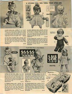 1967 PAPER AD Doll Mattel Ideal Pattaburp Teenietalk Lucy Drowsy First Step Posi in Collectibles, Advertising, Merchandise & Memorabilia | eBay